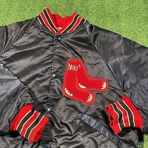Boston Red Sox Jacket Boy Large Vintage 80s 90s MLB Baseball Starter Satin Retro