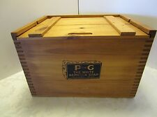 """Wood 1911 P&G White Naptha Soap Box crate Advertising Reproduction 14 5/8"""" long"""