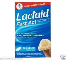 Lactaid Fast Act Lactase Enzyme Supplement 60 Caplets 300450910608DT