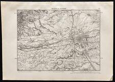 1880 - Carte ancienne des environs de Perpignan