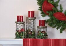 Chicken Wire Candle Holders Set ~ Set/3