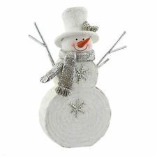 Hand Painted Christmas Snowman Ornament by Winter Wonderland Collection