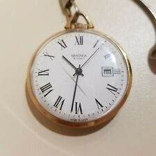 Sekonda Pocket Watch, 19 Jewels, Working Order Showing Date