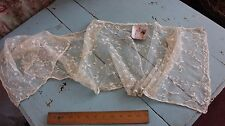 French Antique 19thC Handmade Tiny Doll Scale Tambour Emb On Net (Women's) Scarf