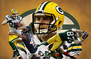 Green Bay Packers Lithograph print of Jordy Nelson 17 x 11