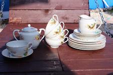 Antique Japanese Porcelain Dragon Ware Gold Dragon Tea Set Geisha Lithophane Vtg