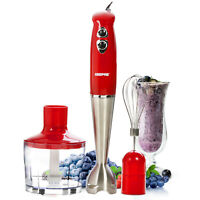Geepas 3-in-1 Hand Blender Stainless Steel Blades Ideal Mixer for Smoothies