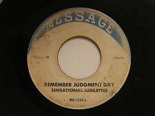 Sensational Jubilettes 45 REMEMBER JUDGEMENT DAY/JORDAN RIVER ~G- Detroit gospel