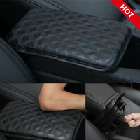 Console Armrest Cover Center Console Pad Car Universal Black Leather Grid pad