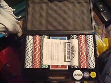 NEW Pitboss Poker Set, Chips & Casino Cards Case, Texas Holdem New in Wrapping