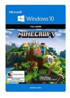 Minecraft BEDROCK WINDOWS 10 DIGITAL CODE / Key - Full Game (READ DESCRIPTION)