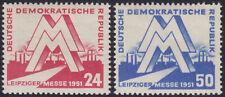 DDR 282/83 ** Leipziger Frühjahrsmesse 1951, postfrisch