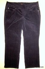 JAG JEANS Straight Leg PULL ON Pants Womens PLUS 24W 24 W Purple Corduroy Cords