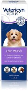 VETERICYN Plus All Animal Eye Wash Liquid Dog Cat Horse 3 oz No Stinging