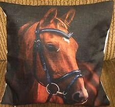 Equestrian Horse Head Throw Pillow