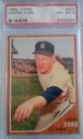 1962 Topps Whitey Ford PSA 8 NM/MT Card #310  Yankees Baseball