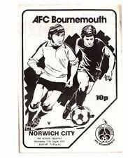 Norwich City Football Pre-Season Fixture Programmes (1980s)