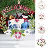 Eg _ Albero di Natale in Legno Hollow Lettere Babbo Renna Ornamento Decorazione