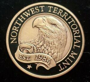 Beautiful Northwest Territorial Mint NWTM 1oz 999 Fine Copper Round