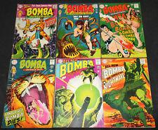 DC Silver Age BOMBA, THE JUNGLE BOY #2-7 - 6pc Mid Grade Comic Lot FN-VF