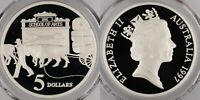 1997 Proof Five Dollar Silver $5 Ox-Drawn Wagons PCGS PR69DCAM FDC UNC