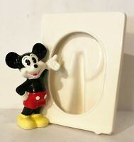 Mickey Mouse Picture Frame Vintage Disney Ceramic Figure Tabletop
