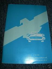 1957 Ford Thunderbird Factory Owners Manual