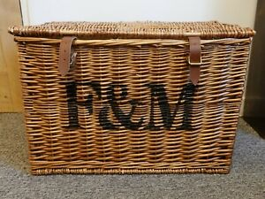 Fortnum and Mason F&M Large Hamper Wicker Basket, Picnic, Storage, Drinks, Food