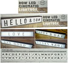 Long ROW LED Cinematic Light Box Create Your Own Message, Xmas Decoration Gadget