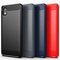 For Samsung Galaxy A01 M01 Core Shockproof Carbon Fiber TPU Bumper Cover Case