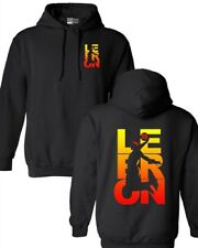 New Lebron Fan Wear Cleveland Basketball Front and Back DT Sweatshirt Hoodie