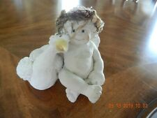 Dreamsicles ~ Me And My Shadow | Cherub Angel with Goose | Cast Art by Kristin