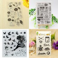 Silikonstempel Stempel Clear Stamp Scrapbooking DIY Basteln Briefmarken MODE