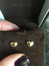 14ct Yellow Solid Gold Love Heart New Bubble Studs Cost £80 Goldsmiths