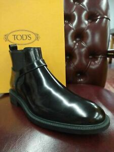 Tod's Men's Black Smooth Leather Lace Up Ankle Boots (5 UK / 6.5 US)