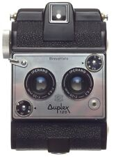 Brevettato Duplex 120 Stereo camera ISO Iperang f6.3 25mm lens 1:6.3/25mm rare