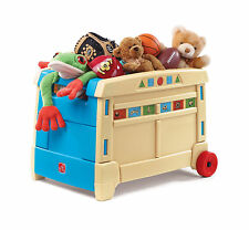 Step2 Toy Box Storage w/ Roller Wheel Easy Transport 2 to 6 years Durable New