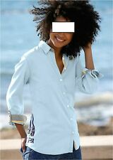 Damen Jeansbluse blau Gr. S M L XL XXL Jeanshemd leger sportlich Bluse 559 neu