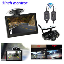 "Wireless 5"" Monitor Car Rear View System Back up Parking Camera Night View SET"