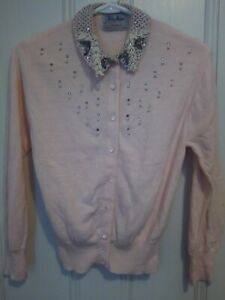 50s Sequined Sweater Vintage knit Cardigan Full Iridescent Sequins Cropped 1950s Shrug Fish Scale Fully Open Jumper