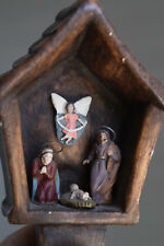 ⭐ Vintage religious altar ,statue,candle holder,Christmas crib,chalkware,signed