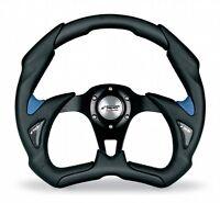 Volante Auto Sportivo EcoPelle Nero/Azzurro Simoni Racing Fiat 500 126 Epoca