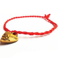 Pack of 10pcs Handmade Friendship  LOVE Bracelets Red coloured thread UK Stock