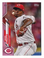 RAISEL IGLESIAS 2020 TOPPS MINI PINK PARALLEL #09/25 REDS #197