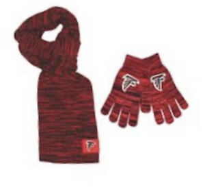 Atlanta Falcons Color Blend Scarf And Glove Set for Women