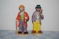 Two Collectible Emmit Kelly Jr. Collection Clown Figurines From Flambro
