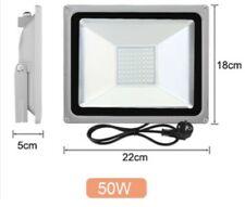 LED Flutlicht Fluter Strahler SMD Außen Scheinwerfer schwarz 50W/12V Kaltweiß