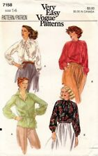 1970's VTG VOGUE Misses' Blouse Pattern 7158 Size 14 UNCUT