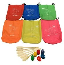 ND Kids Sack Racing Jumping Bags Sports Day Outdoor School + Egg and Spoon Race