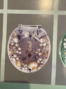 Transparent Safety Resin Toilet Seat Sea Shell Aquarium Style Bathroom Decor